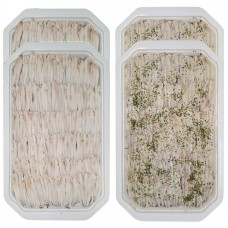 Nr.2 Natural marinated anchovies in sunflower oil - 1 kg (trays) + nr.2 Marinated anchovies with parsley and garlic in sunflower oil - 1 kg (tray)