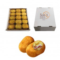 Arancine with fried ham - 220 gr (fried and frozen product)x 15  pcs